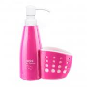 Dozator de sapun lichid cu suport burete-roz
