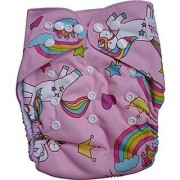 Tinytots Bamboo All In One Reusable Washable One Size Cloth Diaper - Rainbow
