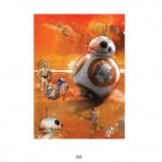 Zavvi Exclusive 60x80 BB-8 Star Wars The Force Awakens Fine Art Print