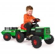 Tractor Montable Dump Truck Electrico Verde 6v Injusa Niño