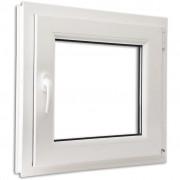 vidaXL Topeltklaasiga PVC aken 600 x 600 mm käepide vasakul