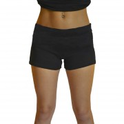 Negro de las mujeres casuales verano cintura alta Yoga deportes tableros pantalones pantalones Mini Shorts