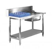 Voorspoeltafel RVS Rechts | 1200mm