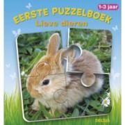 Eerste puzzelboek Lieve dieren 1-3 jr.