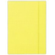 Gumis mappa, karton, A4, kockás, DONAU, citromsárga