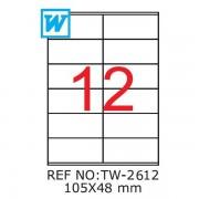 Etichete A4 , 105 x 48mm , TW 2612
