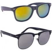 Devew Clubmaster, Wayfarer Sunglasses(Multicolor)
