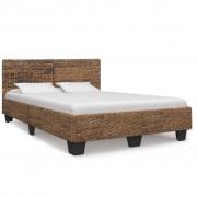 vidaXL Cadru de pat, culoare naturală, 140 x 200 cm, ratan natural