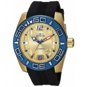 Invicta Watches Invicta Men's 'Aviator' Automatic Stainless Steel and Silicone Casual Watch ColorBlack (Model 23532) GoldBlack