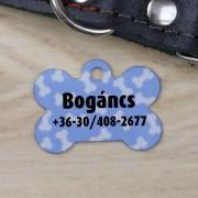 Csont alakú kutyabiléta - kék