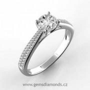 Luxusní prsten s diamanty Adriana, bílé zlato
