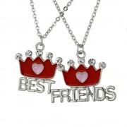 Set 2 Lantisoare Cu Pandantive Best Friends BFF Coroane