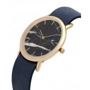 Analog Watch Classic Black Marble Dial & Navy Strap Watch GN-CB
