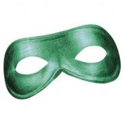 Merkloos Groen mysterieus oogmasker glimmend voor dames