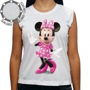 Camiseta Minnie Mouse Rosa Pose