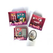 """myLife Brand Products Mini Doll House Furniture Bundle for 7"""" DollsKitchen, Dining Room, Living Room, and Egg Chair"""