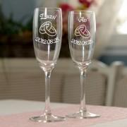 Gyűrűs pezsgőspoharak