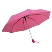 Umbrela Pliabila ICONIC Automata, Roz cu buline, Ø110cm, articulatii anti-vant