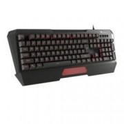 Клавиатура Natec Genesis RX69, гейминг, високопрофилни клавиши, мембранен механизъм, 7 цвята подсветка, FN клавиш за мултимедия и смяна на режими, черна, USB