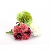 Selyemvirág szegfű csokor műanyag