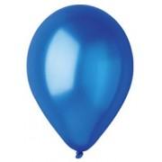 100 baloane rotunde albastru-inchis metalizate 30 cm