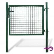 vidaXL Vrata za rešetkastu ogradu, 85,5 x 75 cm / 100 x 125 cm
