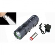 1200LM 3 Mode CREE LED Waterproof 6W Pocketable Zoomable Focus rechargeable torchlight torch Mini Flashlight Outdoor Lam