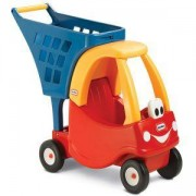 Детска кола за пазаруване - Червено със синьо - Little Tikes, 320143