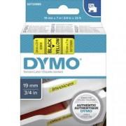 DYMO Páska do štítkovače DYMO 45808 (S072880), 19 mm, D1, 7 m, černá/žlutá