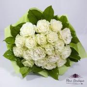 Buchet 19 trandafiri White Roses