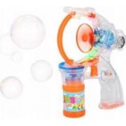 Jucarie Pistol Muzical cu Lumini pentru Facut Baloane de Sapun Bubble Gun Copii 3 Ani+