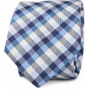 Krawatte Seide Blau Karo Motiv - Blau