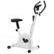 [pro.tec]® Bicicleta estática para casa con pantalla LCD blanco Bicicleta Fitness Peso máximo del usuario: 100kg