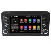 "Navigatie GPS Auto Audio Video cu DVD si Touchscreen HD 7"" Inch, Android 7.1, Wi-Fi, 2GB DDR3, Audi A3 2002-2011 + Cadou Soft si Harti GPS 16Gb Memorie Interna"