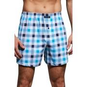Comfot 002120 férfi káró mintás boxeralsó, kék 3XL