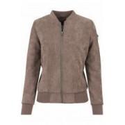 Geaca ladies imitation suede bomber jacket - Urban Classics - TAUPE
