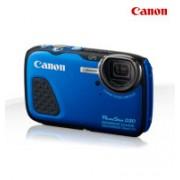 Canon D30 PowerShot Blue WaterProof Digital Camera + GPS