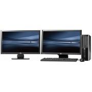 HP Elite 8300 SFF intel i3 500GB + Dual 2x 20'' Widescreen LCD