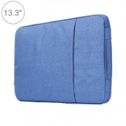 13.3 inch Universal Fashion Soft Laptop Denim Bags Portable Zipper Notebook Laptop Case Pouch for MacBook Air / Pro Lenovo and other Laptops Size: 35.5x26.5x2cm (Blue)