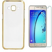 Samsung Galaxy J7 Prime Back Cover with Tempered Glass