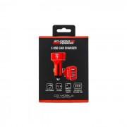 Adaptador Carregador de Isqueiro 3 X USB (7.2A 36W) Scuderia FERRARI Vermelho em Blister