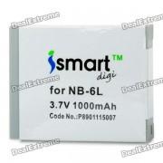 Sustitucion ISMARTDIGI NB-6L 3.7V 1000mAh bateria para Canon IXUS 310HS / IXUS 300HS + Mas