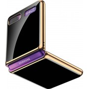 SaharaCase - Luxury Case for Samsung Galaxy Z Flip and Z Flip 5G - Black/Gold