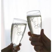 Champagneglazen met Monogram