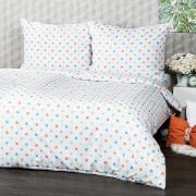 Lenjerie de pat 4Home Dots, din bumbac portocaliu, 160 x 200 cm, 70 x 80 cm