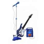 Set pentru Copii cu Chitara Electrica, Amplificator si Microfon cu 6 Melodii Demo