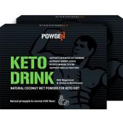PowGen Keto Drink Duo Con il 75% di polvere MCT naturale di cocco Senza olio di palma Programma di 20 giorni