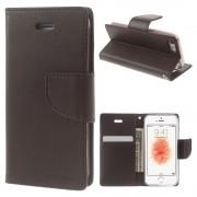 Mercury Pouzdro / kryt pro iPhone 5 / 5S / SE - Mercury, Bravo Diary BROWN
