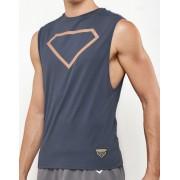 Supawear Diamond Muscle Top T Shirt Grey TA11DIGR