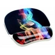 Egéralátét csuklótámasszal, géltöltésű, FELLOWES Photo™ Gel, szivárvány füst (IFW92040)